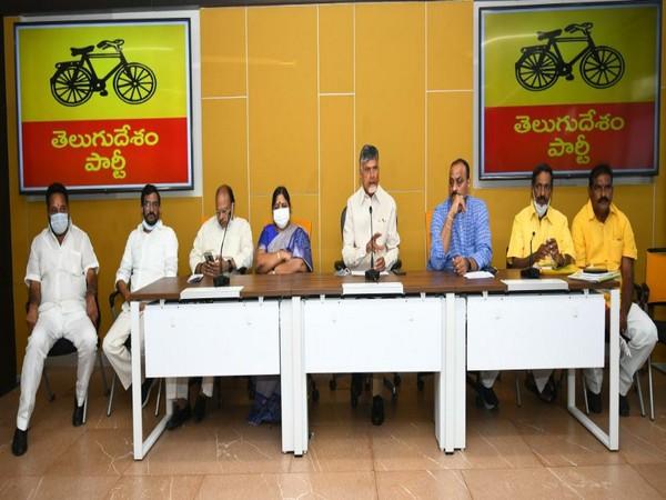 Telugu Desam Party chief, N Chandrababu Naidu addressing the media (Photo/Twitter)