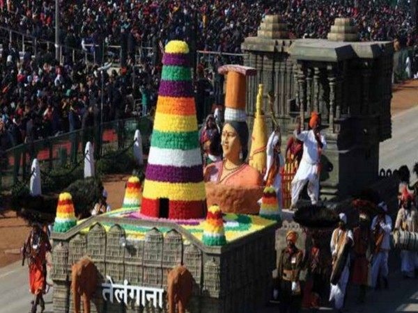 The Telangana tableau during Republic Day parade.