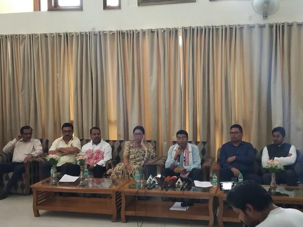 Rameshwar Teli addresses press conference in New Delhi