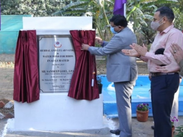 Visual of inauguration of TIhar Jail's herbal vatika (Photo/ANI)