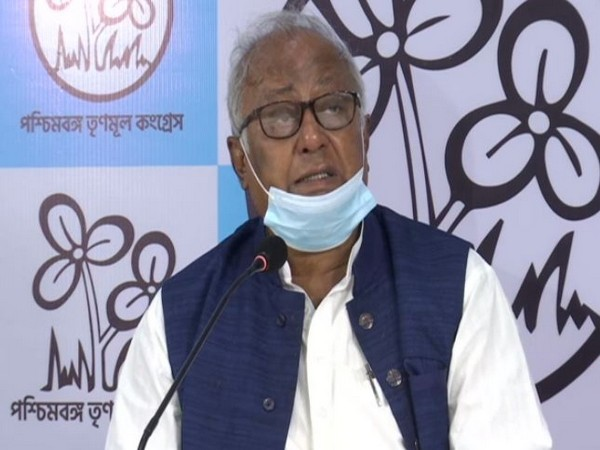Trinamool Congress leader Sougata Roy speaking at a press conference on Wednesday. (Photo/ANI)