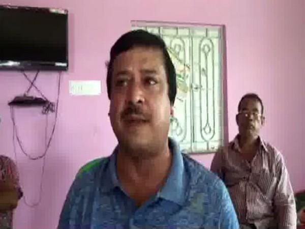 Sujeet Mukherjee, TMC block president Laudoha area speaking to reporter in Durgapur, West Bengal.