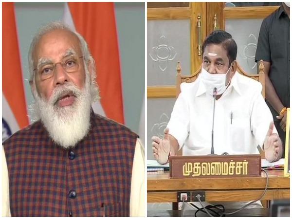 Prime Minister Narendra Modi (left) and Tamil Nadu Chief Minister Edappadi K Palaniswami