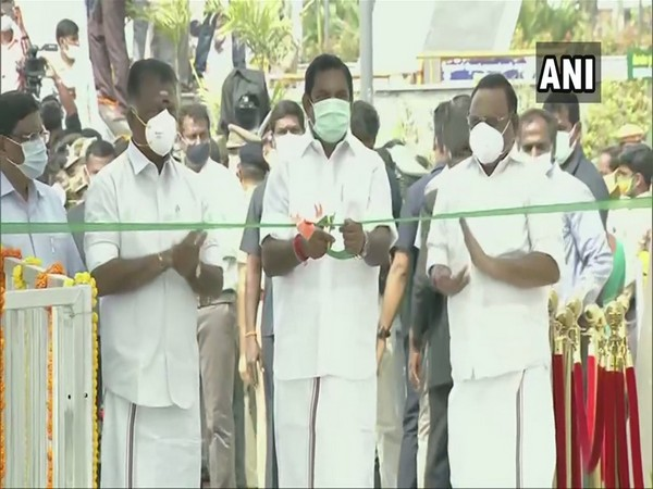 Tamil Nadu Chief Minister Edappadi K. Palaniswami inaugurating the memorial (Photo/ANI)