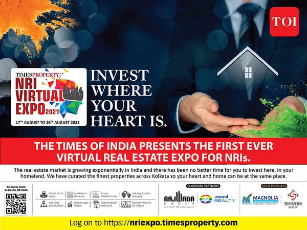 The Times of India Group presents the first ever Virtual Real Estate Expo for NRIs - showcasing the finest properties across Kolkata