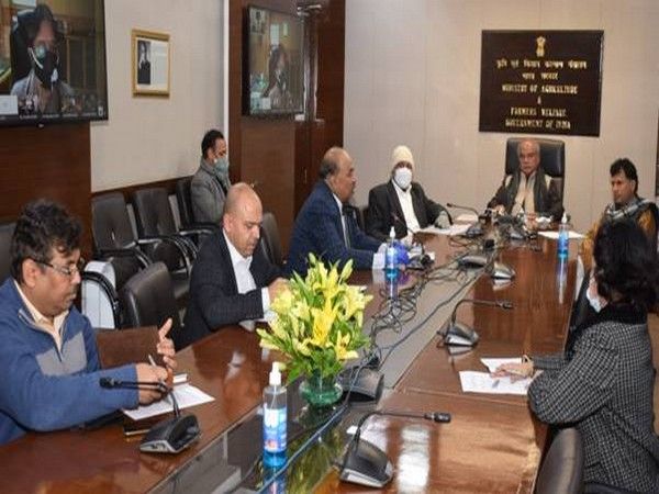 Union Agriculture Minister Narendra Singh Tomar interacted with stake-holders across the country via video conferencing.
