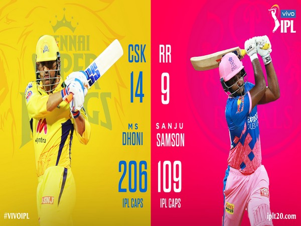 Chennai Super Kings skipper MS Dhoni and Rajasthan Royals captain Sanju Samson (Photo/ IPL Twitter)