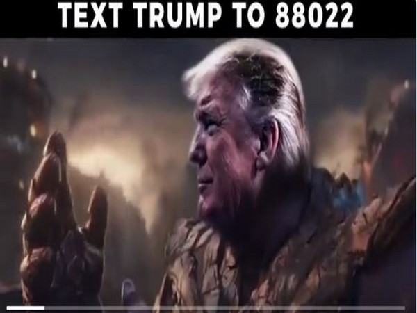 A snap of a doctored video shared by Trump war room