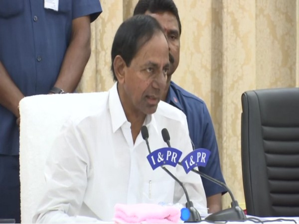 CM K Chandrasekhar Rao addressing a press conference in Hyderabad on Tuesday.