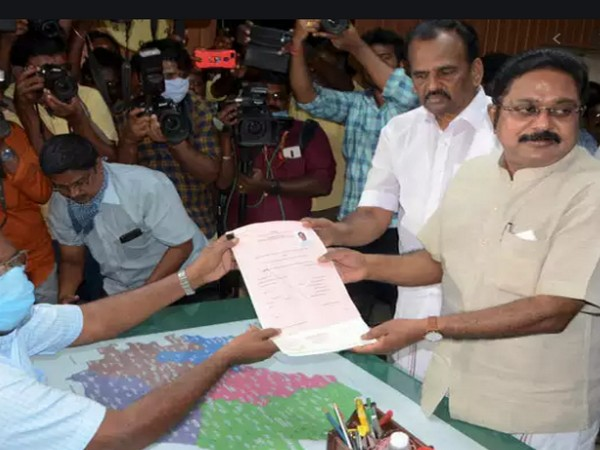 TTV Dhinakaran files his nomination from Kovilpatti assembly constituency for upcoming elections.