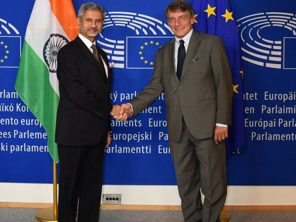 President of European Parliament, David Maria Sassoli, in Brussels (Picture Credits: India in Belgium/Twitter)