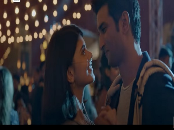 Still from the music video 'Taare Ginn' featuring late actor Sushant Singh Rajput with co-star Sanjana Sanghi (Image source: YouTube)