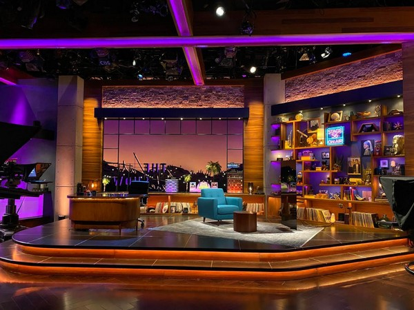 The redesigned sets for James Corden's late night talk show (Image soruce: Twitter)
