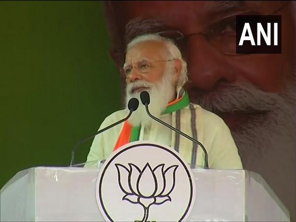 Prime Minister Narendra Modi while addressing a public rally in Kanyakumari.