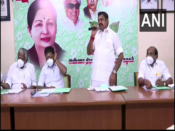 Tamil Nadu Chief Minister and party leader Edappadi K Palaniswami. (Photo/ANI)