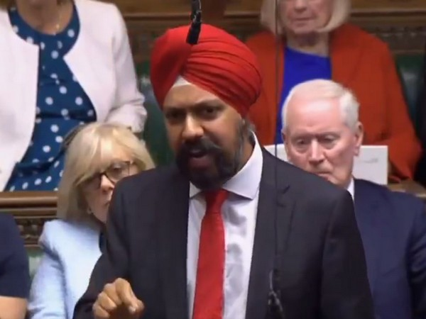 British Sikh MP Tanmanjeet Singh Dhesi at the House of Commons in London on Wednesday (Photo Credits: Jeremy Corbyn's Twitter)