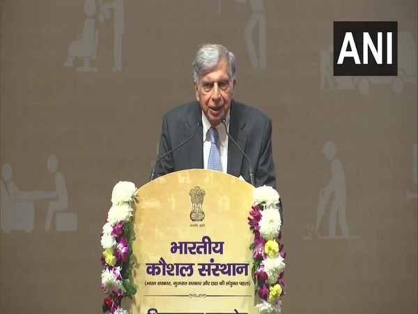 Industrialist Ratan Tata speaking at an event in Ahmedabad on Wednesday. (Photo/ANI)