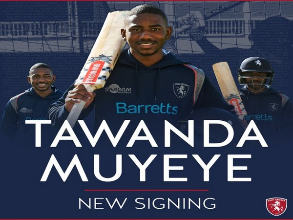 Batsman Tawanda Muyeye (Photo/ Kent Cricket Twitter)