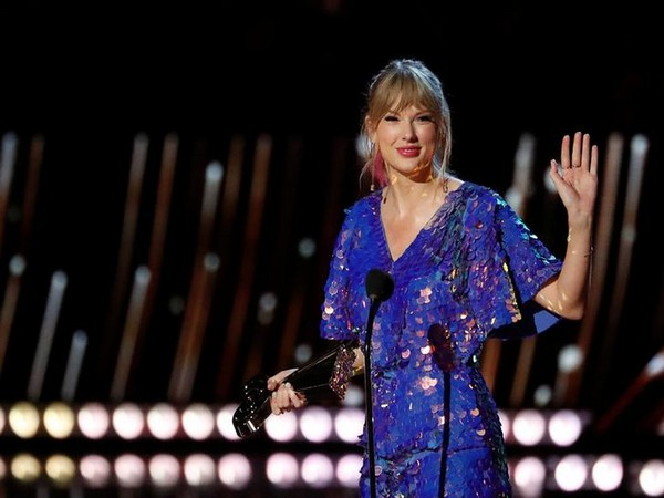 Singer Taylor Swift receives the Tour of the Year award during the iHeartRadio Music Awards in Los Angeles, California, U.S., March 14, 2019