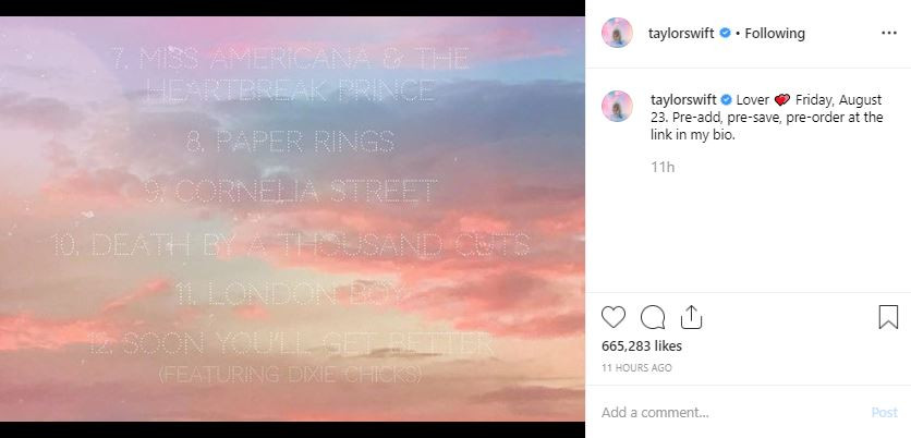 Here S The Complete List Of Upcoming Taylor Swift Songs From Lover