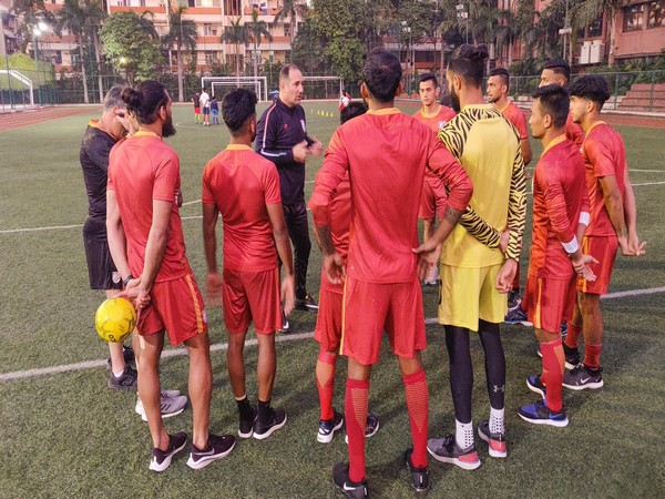 Indian team during pratice session. (Photo/Indian Football Team Twitter)