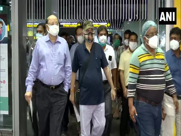 Central team from Union Home Ministry in Kolkata. (Photo/ANI)
