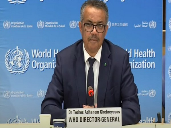 WHO D-G Tedros Adhanom Ghebreyesus during Wednesday's COVID-19 briefing.