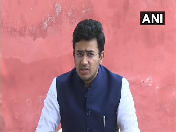 Bengaluru South MP Tejasvi Surya speaking to media in New Delhi on Sunday. [Photo/ANI]