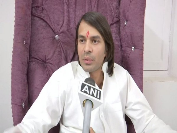 RJD leader Tej Pratap Yadav speaking to ANI on Wedesday in Patna, Bihar.
