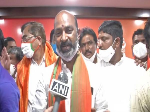 Bandi Sanjay Kumar speaking to ANI in Hyderabad on Tuesday.