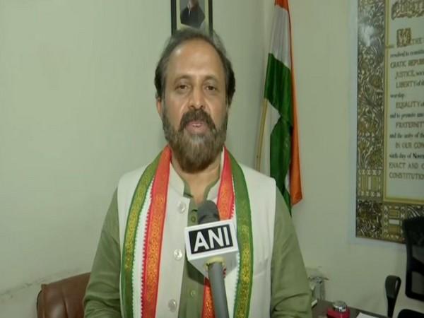 Ex-Member of Parliament of Telangana Congress, Madhu Yaskhi (Photo ANI)