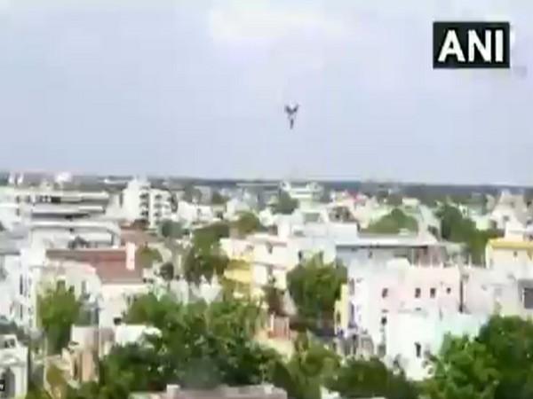 Drone camera used by Suryapet Police (Photo/ANI)