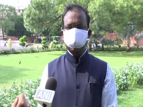 TRS MP Venkatesh Netha Borlakunta speaking to ANI in New Delhi on Thursday. (Photo/ANI)