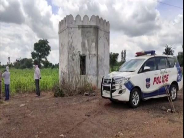 Half-burnt body of woman found in Telangana's Vikarabad district on Monday. Photo/ANI