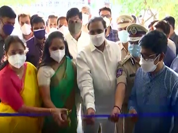 Inauguration of 200 bed Covid isolation centre in Hyderabad. (Photo/ANI)