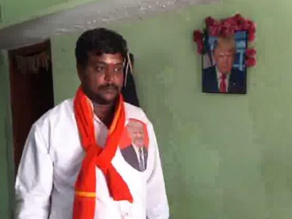 Bussa Krishna while speaking to ANI in Telangana on Wednesday. Photo/ANI