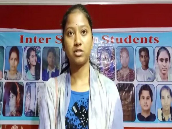 Udaya Arutala, sister of Anamika Arutala who committed suicide after the results of the Intermediate Board Exams were declared