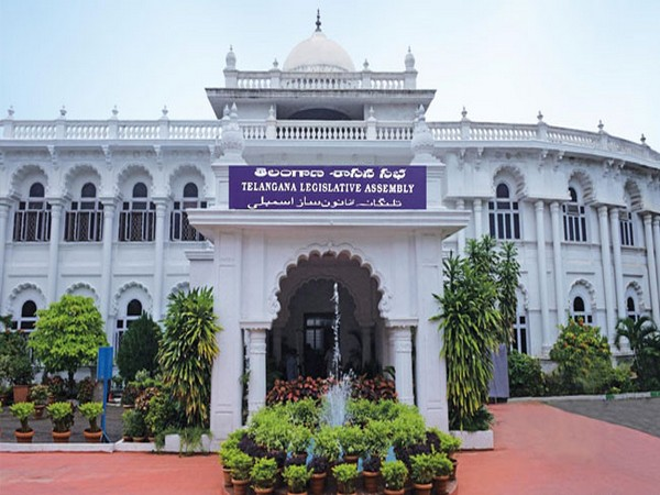 Telangana State Legislative Assembly building in Hyderabad.