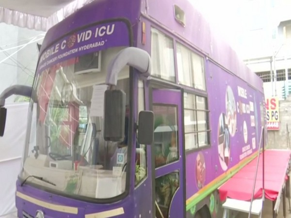Visual of a mobile ICU bus of Project Ashray (Photo/ANI)