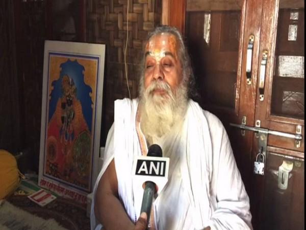 Mahant Kamal Nayan Das Ji Maharaj speaking to ANI on Sunday. Photo/ANI