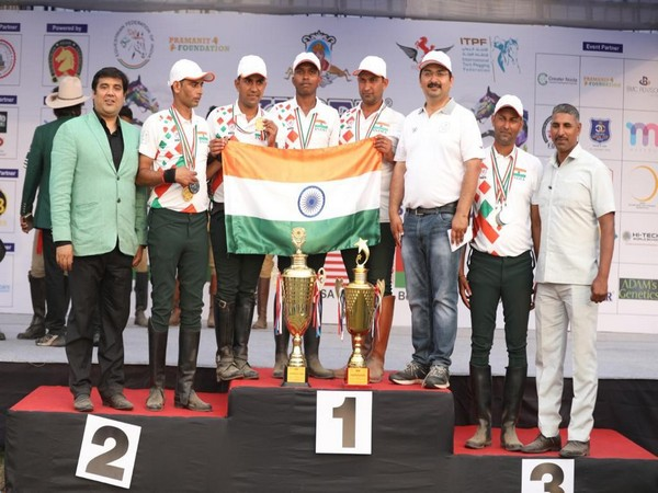 Indian tent pegging team
