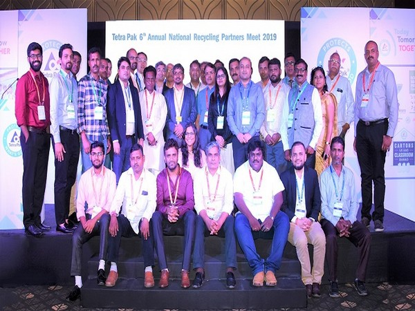 Representatives from Tetra Pak's collection, recycling and NGO partner organizations with Amardeep Raju