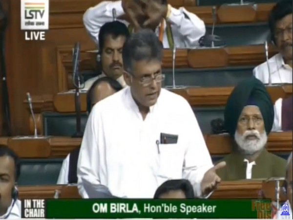 Congress leader Manish Tewari speaking at Lok Sabha over SPG Amendment Bill on Wednesday.