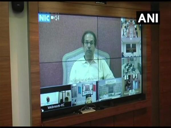Maharashtra Chief Minister Uddhav Thackeray during all party meet in Mumbai on Thursday. Photo/ANI