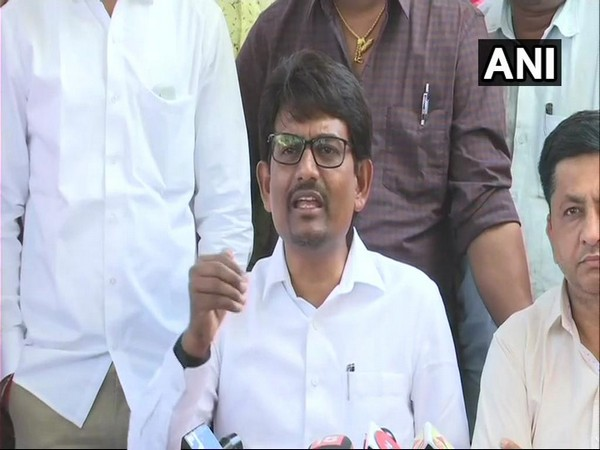OBC leader and Congress MLA Alpesh Thakor at a press Conference in Ahmedabad, Gujarat on Saturday. Photo/ANI