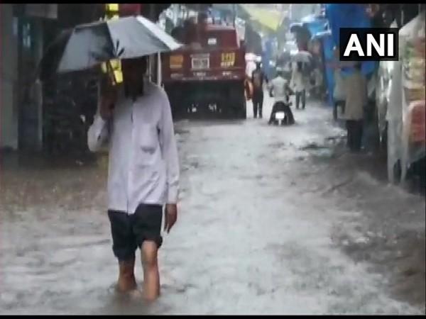 Visuals of rain in Thane, Maharashtra on Wednesday.