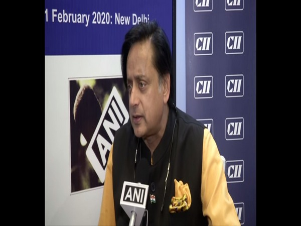Congress leader Shashi Tharoor speaking to ANI in New Delhi on Saturday. Photo/ANI