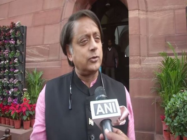 Congress lawmaker Shashi Tharoor speaking to ANI in New Delhi on Monday. Photo/ANI