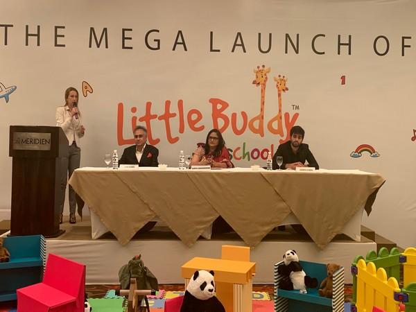 The Media launch of Little Buddy, Sunil Dewan, Ramya Gangadharan and Agman Dewan.