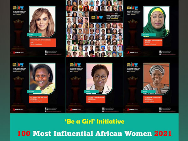 The President of Tanzania, Merck Foundation CEO, The Prime Minister of TOGO and The Vice Presidents of Uganda and Benin amongst 100 Most Influential African Women 2021.